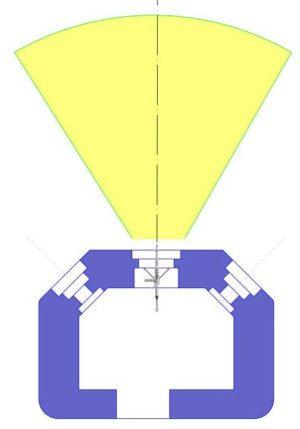 План блокпоста RM типа С с фронтальной амбразурой.