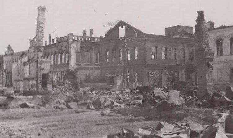 Городские улицы. Октябрь 1941 г.
