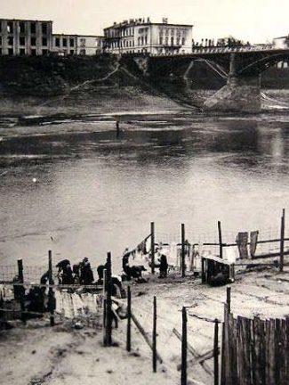 Ограждение гетто со стороны Двины. 1941 г.