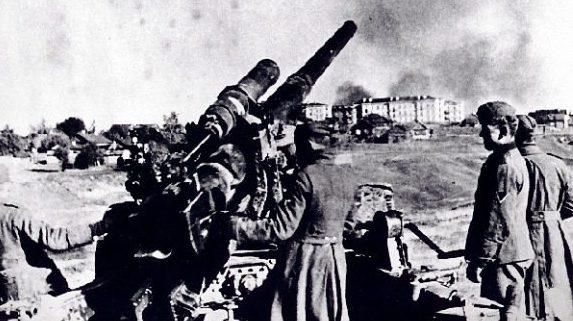 Позиция немецкой батареи. Декабрь 1941 г.