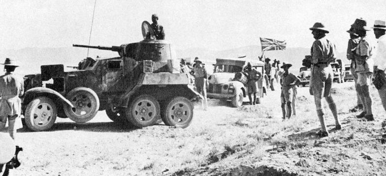 Британский конвой во главе с БА-10. Сентябрь 1941 г.