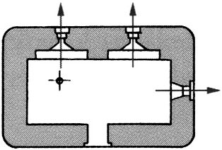 План блокпоста BEF типа U1.