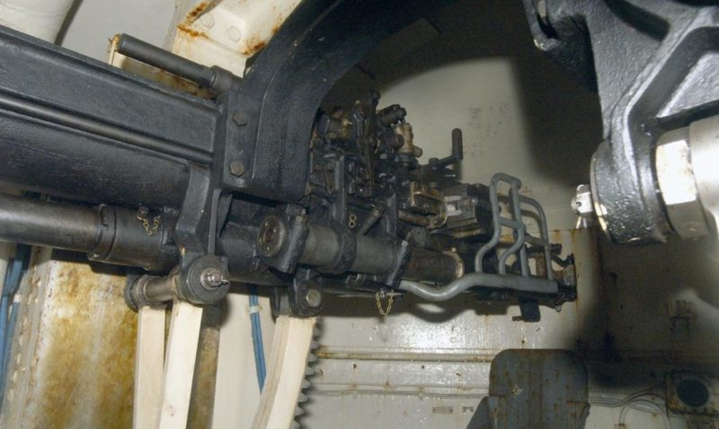 75-мм орудие бронебашни блока №4.
