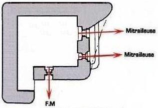 План блокпоста FCR-GA1 F1 с правосторонними амбразурами.