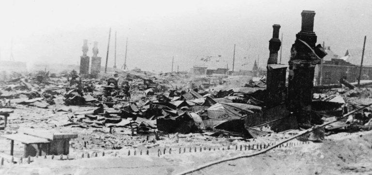 Руины города. Январь 1942 г.