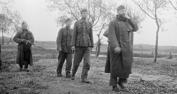 Пленные немцы в районе Гомеля. Ноябрь 1943 г.