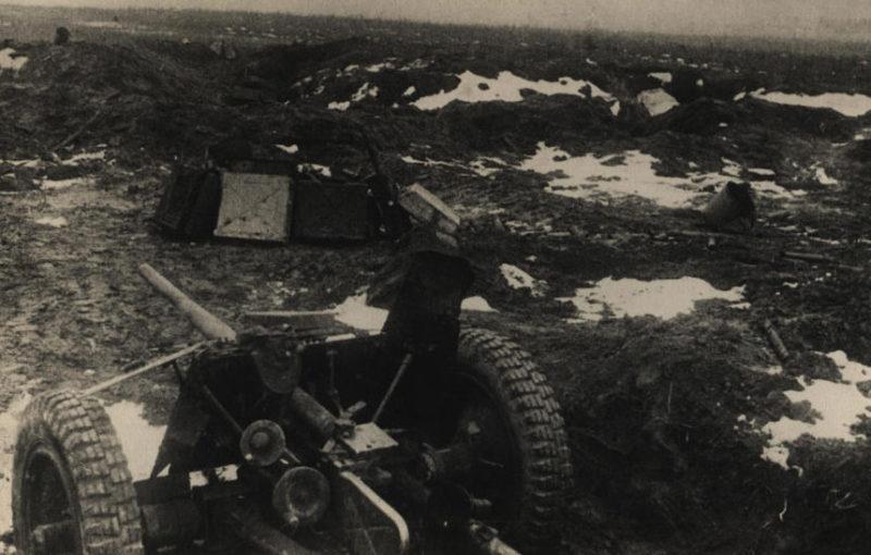 Захваченная немецкая позиция. Ноябрь 1943 г.