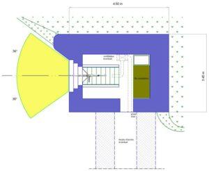 План блокпоста STG тип 1 с левосторонней амбразурой.