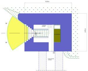 План блокпоста STG тип 1bis с левосторонней амбразурой.