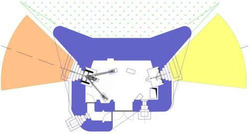 План блокпоста RM типа В с левосторонней пушечной амбразурой.