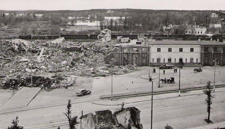Железнодорожный вокзал Выборга. 1941 г.