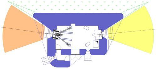 План блокпоста RM типа С с левосторонней пушечной амбразурой.