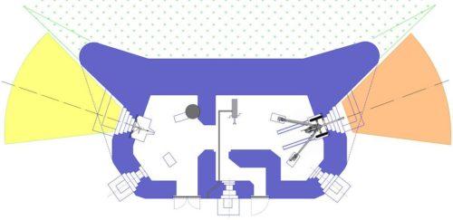 План блокпоста RM типа Db с правосторонней пушечной амбразурой и бронебашней Valenciennes.
