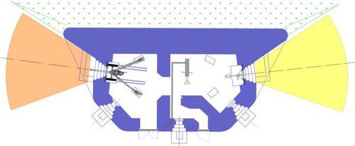 План блокпоста RM типа Dc с левосторонней пушечной амбразурой.