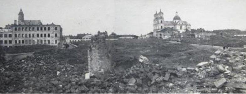 Разрушенный центр города. 1944 г.