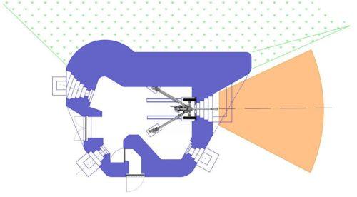 План блокпоста RM типа Dsd/Dsg с правосторонней пушечной амбразурой.