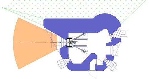 План блокпоста RM типа Dsd/Dsg с левосторонней пушечной амбразурой.