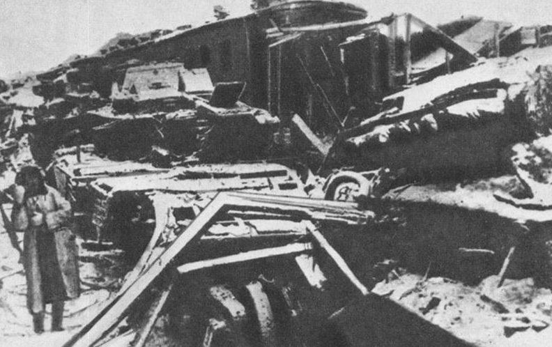 Станция Калинин после изгнания оккупантов. Декабрь 1941 г.