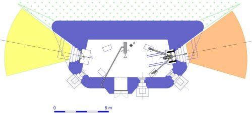 План блокпоста RM типа G4 с правосторонней пушечной амбразурой.