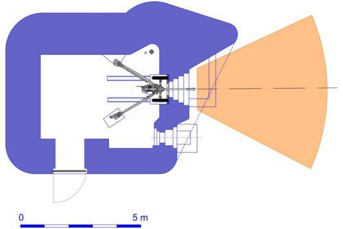 План блокпоста RM типа Gsd/Gsg с правосторонней пушечной амбразурой.
