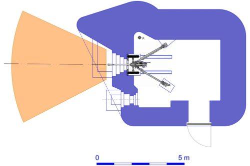 План блокпоста RM типа Gsd/Gsg с левосторонней пушечной амбразурой.
