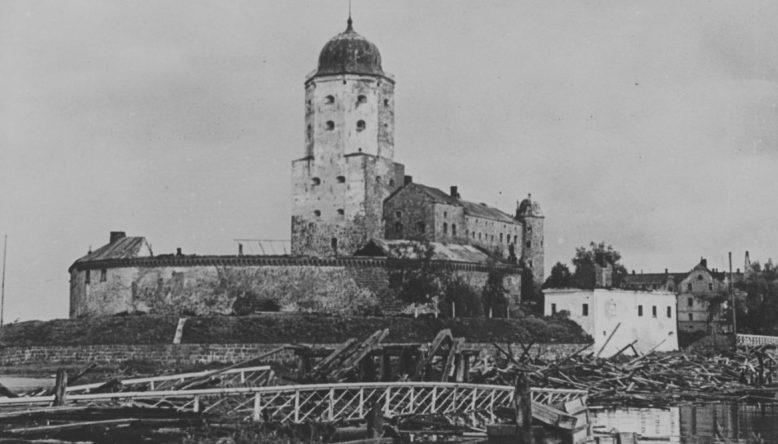 Взорванный Замковый мост. 1941 г.