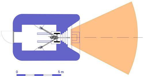 План блокпоста RM типа N1f с правосторонней пушечной амбразурой.