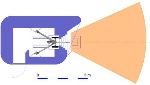 План блокпоста RM типа N1g/d с правосторонней пушечной амбразурой.