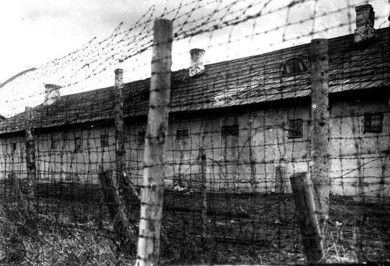 Бараки концлагеря «5-й полк». 1941 г.