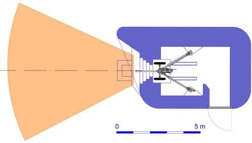 План блокпоста RM типа N1g/d с левосторонней пушечной амбразурой.