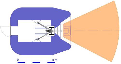 План блокпоста RM типа N2f с правосторонней пушечной амбразурой.