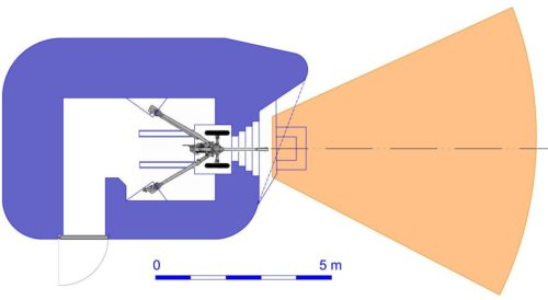 План блокпоста RM типа N2g/d с правосторонней пушечной амбразурой.