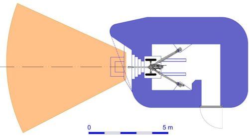 План блокпоста RM типа N2g/d с левосторонней пушечной амбразурой.