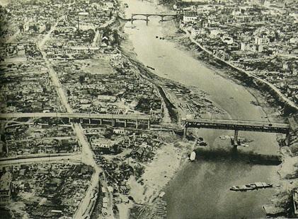 Двинский мост с немецкого самолета. 1942 г.