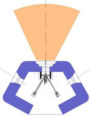 План блокпоста RM PdT типа A1 с фронтальной амбразурой.