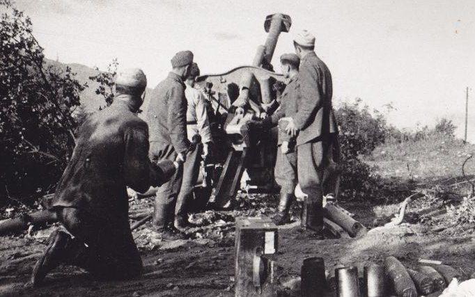 Артиллерийская позиция болгарской армии под Струмицей. 24 октября 1944 г.