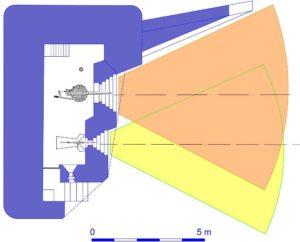План усиленного блокпоста RFM36с с правосторонними амбразурами.