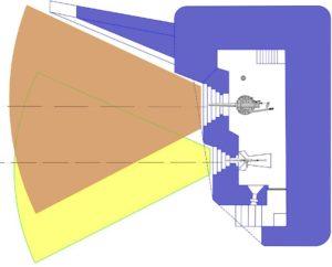 План усиленного блокпоста RFM36 с левосторонними амбразурами.