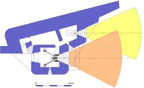 План блокпоста RFM37 с правосторонними амбразурами.