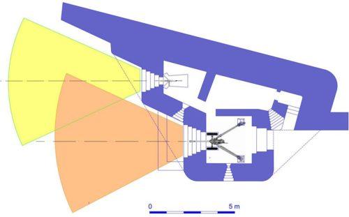 План блокпоста RFM37 с левосторонними амбразурами.