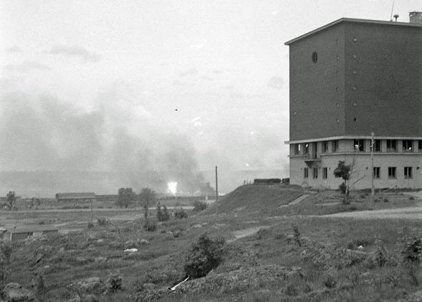 Обстрел Выборга советской артиллерией. Июнь 1944 г.