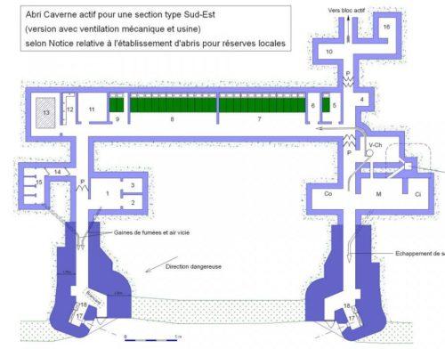 Планы вариантов укрытий CORF типа SE.