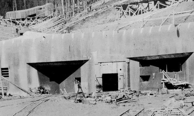 Строительство форта «Hochwald». 1933 г.
