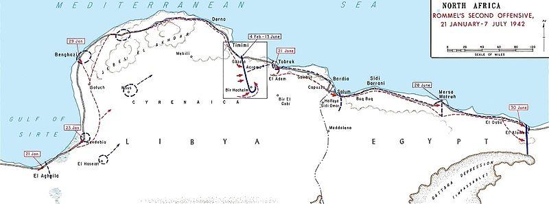 Западная пустыня во время битвы при Газале.