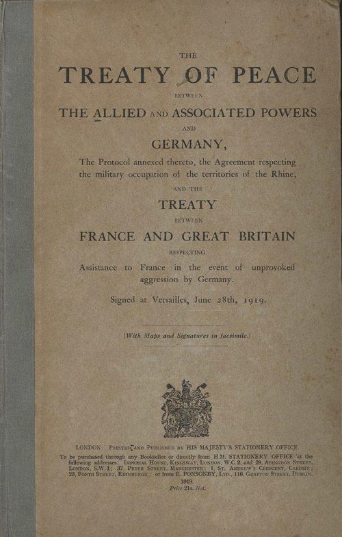 Версальский мирный договор от 28 июня 1919 года.