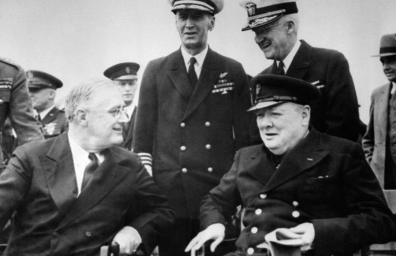 Встреча Рузвельта и Черчилля в Арджентии. 9 август 1941 г.