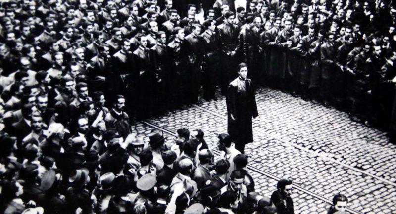 Митинг фашисткой партии «Железная гвардия». Бухарест 1939 г.