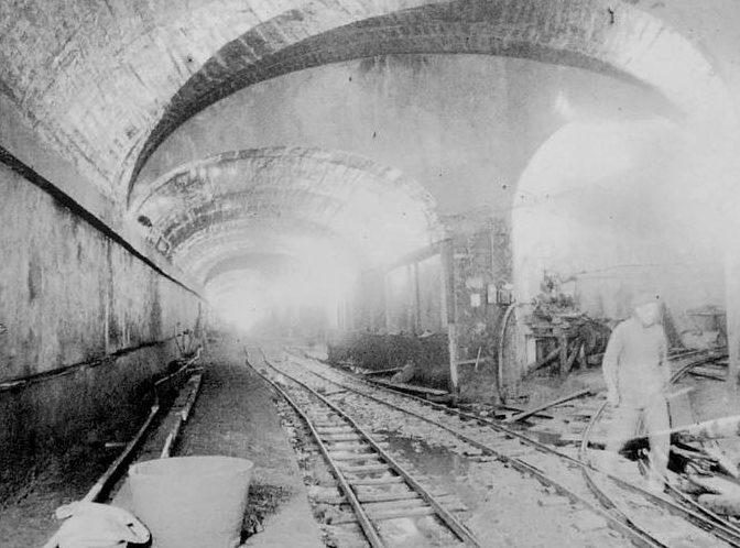 Строительство подземелья форта «Hochwald». 1933 г.