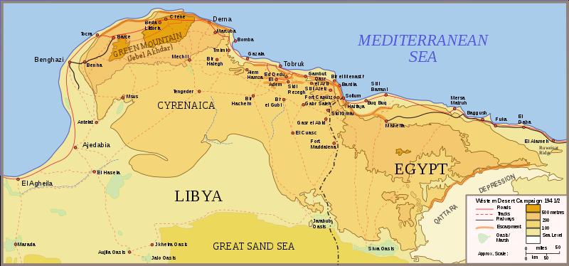 Наступление Роммеля от Эль-Агейлы к Эль-Аламейну 21 января - 21 июня 1942 года.