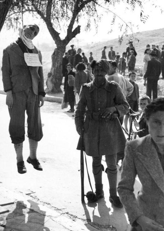 Казненный партизан ELAS. 1943 г.